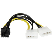 StarTech.com 6in LP4 to 8 Pin PCI Express Video Card Power Cable Adapter - 6 - LP4 - PCI-E