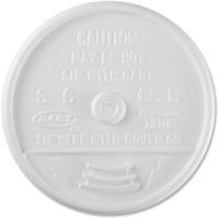 Dart Sip Thru Lids, White, Plastic, 1000/Carton (DCC 12UL) DCC12UL