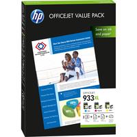 HP 933XL Value Pack - 1 - yellow, cyan, magenta - print cartridge / paper kit