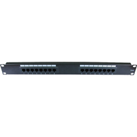 Cables Direct 16 Port(s) Network Patch Panel - 16 x RJ-11 - 1U High - Rack-mountable