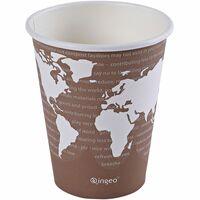 Eco-Products World Art Renewable Resource Compostable Hot Drink Cups, 8oz, Plum, 1000/Carton ECOEPBHC8WA