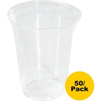 NatureHouse Corn Plastic Cup, 10oz, Clear, 50/Pack SVARP20
