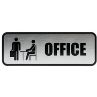 COSCO Brushed Metal Office Sign COS098209