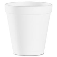 Dart Conex Hot/Cold Foam Drinking Cups, 10 oz, White, Foam, 1000/Carton (10J12) DCC10J12
