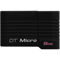Kingston DataTraveler Micro 8 GB USB Flash Drive - Black