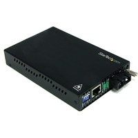 StarTech.com 10/100 Mbps Single Mode Fiber Media Converter SC 30 km - 2 Port(s) - 1 x SC - Twisted Pair, Fiber - 30km - Desktop, Rack-mountable