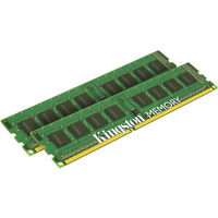 Kingston ValueRAM RAM Module - 16 GB (2 x 8 GB) - DDR3 SDRAM - 1333 MHz - 1.50 V - Non-ECC - Unbuffered - CL9 - 240-pin - DIMM