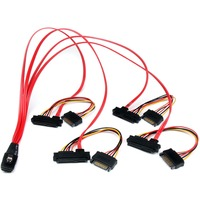 StarTech.com 50cm Internal Serial Attached SCSI Mini SAS Cable - SFF8087 to 4x SFF8482 - 1 x SFF-8087 Male Mini-SAS - 4 x Male SATA Power, 4 x SFF-8482 Mini-SAS - Re