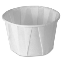 SOLO Cup Company Paper Portion Cups, 2oz, White, 250/Bag, 20 Bags/Carton SCC200