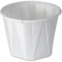 SOLO Cup Company Paper Portion Cups, 1oz, White, 250/Bag, 20 Bags/Carton SCC100