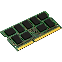 Kingston ValueRAM RAM Module - 8 GB (1 x 8 GB) - DDR3 SDRAM - 1333 MHz DDR3-1333/PC3-10600 - 1.35 V - ECC - Unbuffered - CL9 - 204-pin - SoDIMM