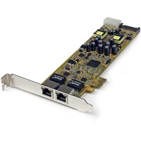 StarTech.com Dual Port PCI Express Gigabit Ethernet PCIe Network Card Adapter - PoE/PSE - PCI Express - 2 Port(s) - 2 x Network (RJ-45) - Twisted Pair - Full-height