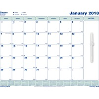 Blueline Write-On Cling-On Poly Monthly Calendar, 17 x 22, White, 2015 REDC151731
