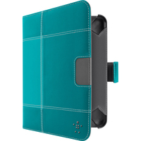 """Belkin Glam Tab Carrying Case (Folio) for 17.8 cm (7"""") Tablet PC - Fountain Blue"""