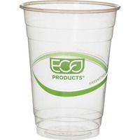 GreenStripe Renewable Resource Compostable Cold Drink Cups, 12 oz, Clr, 50/Pack ECOEPCC16GSPK