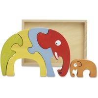 BeginAgain Toys Elephant Family Puzzle BGAA1204