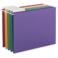 Color Hanging Folders with 1/3-Cut Tabs, 11 Pt. Stock, Assorted Colors, 25/BX SMD64020