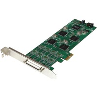 StarTech.com 8 Port Low Profile PCI Express RS232 Serial Adapter Card w/ 161050 UART - PCI Express x1 - 8 x DB-9 Male RS-232 Serial Via Cable - Plug-in Card