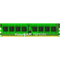 Kingston ValueRAM RAM Module - 4 GB (1 x 4 GB) - DDR3 SDRAM - 1333 MHz DDR3-1333/PC3-10667 - 1.35 V - ECC - Unbuffered - CL9 - 240-pin - DIMM