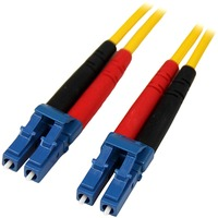 StarTech.com 1m Single Mode Duplex Fiber Patch Cable LC-LC - 2 x LC Male Network - 2 x LC Male Network - Patch Cable - Yellow