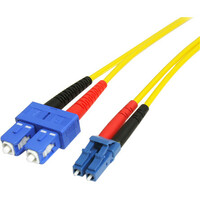 StarTech.com 7m Single Mode Duplex Fiber Patch Cable LC-SC - 2 x LC Male Network - 2 x SC Male Network - Patch Cable - Yellow