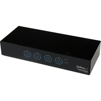 StarTech.com 4 Port SuperSpeed USB 3.0 VGA KVM Switch with Audio and Cables - 4 Computer(s) - 1 Local User(s) - 2048 x 1536 - 8 x USB - 5 x VGA