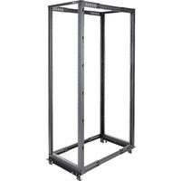 StarTech.com 42U Adjustable Depth Open Frame 4 Post Server Rack Cabinet - Flat Pack w/ Casters, Levelers and Cable Management Hooks - 600 kg x Static/Stationary Weig
