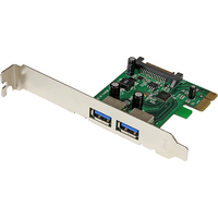 StarTech.com 2 Port PCI Express (PCIe) SuperSpeed USB 3.0 Card Adapter with UASP - SATA Power - 2 Total USB Port(s) - 2 USB 3.0 Port(s) - PC, Linux