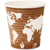 Eco-Products World Art Renewable Resource Compostable Hot Drink Cups, 10oz, Rust, 50/Pack ECOEPBHC10WAPK