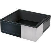 Artistic, Architect Line Paperclip Cup, 1-Compartment, 3 x 3 x 1, Black/Silver, Each (ART43015) AOPART43015