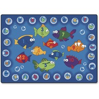 Carpets for Kids Fishing 4 Literacy Rectangle Rug