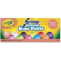 Crayola 10-color Neon Washable Kids Paint CYO542390