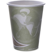 Eco-Products Evolution World 24% PCF Hot Drink Cups, Sea Green, 12oz, 1000/Carton ECOEPBRHC12EW