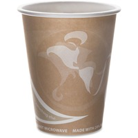 Eco-Products Evolution World 24% PCF Hot Drink Cups, 8oz, Peach, 1000/Carton ECOEPBRHC8EW