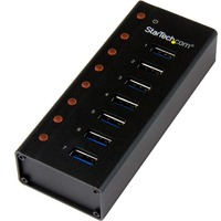 StarTech.com 7 Port USB 3.0 Hub - Desktop or Wall-mountable Metal Enclosure - 7 Total USB Port(s) - 7 USB 3.0 Port(s)