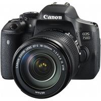 Canon EOS 750D 24.2 Megapixel Digital SLR Camera with Lens - 18 mm - 135 mm