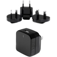 StarTech.com USB Wall Charger with Quick Charge 2.0 - Black - Travel Charger (International) - 5 V DC, 9 V DC, 12 V DC Output Voltage - 1.80 A Output Current
