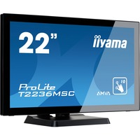 "Iiyama ProLite T2236MSC-B2 - LED monitor - 22"" - touchscreen - 1920 x 1080 FullHD"