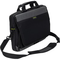 "Targus City Gear TSS866EU Carrying Case for 35.6 cm (14"") Notebook, Ultrabook - Black - Shock Absorbing - Poly, Polyurethane - Shoulder Strap, Trolley Strap, Handle"