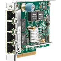 HP 331FLR Gigabit Ethernet Card for Server - PCI Express 2.0 x4 - 4 Port(s) - 4 - Twisted Pair