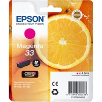 Epson Claria 33 Ink Cartridge - Magenta - Inkjet - 300 Page - 1 / Blister Pack