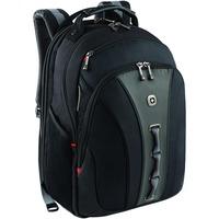 "SwissGear Legacy Carrying Case (Backpack) for 40.6 cm (16"") Notebook, Books, Accessories, Cellular Phone, Key, Knife - Black - Slip Resistant Shoulder Strap, Shock A"