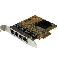 StarTech.com 4-Port PCI Express Gigabit Network Adapter Card - Quad-Port PCIe Gigabit NIC - PCI Express x4 - 4 Port(s) - 4 - Twisted Pair
