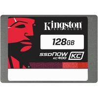 """Kingston SSDNow KC400 128 GB 2.5"""" Internal Solid State Drive - SATA - 550 MB/s Maximum Read Transfer Rate - 450 MB/s Maximum Write Transfer Rate"""