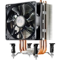 Cooler Master Hyper TX3i RR-TX3E-22PK-B1 Cooling Fan/Heatsink - Processor - 1 x 92 mm - 1 - 2200 rpm - 1 x 43.1 CFM - 30 dB(A) Noise - Long Life Sleeve Bearing - 4-p