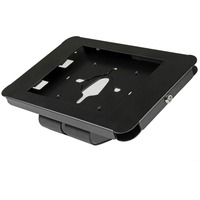 """StarTech.com Lockable Tablet Stand for iPad - Desk or Wall Mountable - Steel Tablet Enclosure - 24.6 cm (9.7"""") Screen Support - Black"""