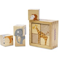 BeginAgain Toys Toddlers Safari Animals Blocks Set BGAB1210