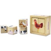 BeginAgain Toys Toddlers Farm Animals Blocks Set BGAB1211