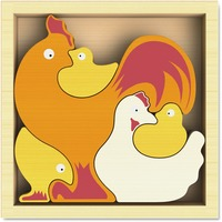 BeginAgain Toys Chicken Family Puzzle BGAI1604