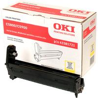 Oki 43381721 LED Imaging Drum - Yellow